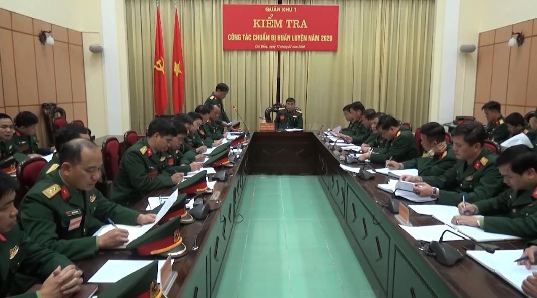 Quân khu 1 kiểm tra công tác chuẩn bị ra quân huấn luyện năm 2020