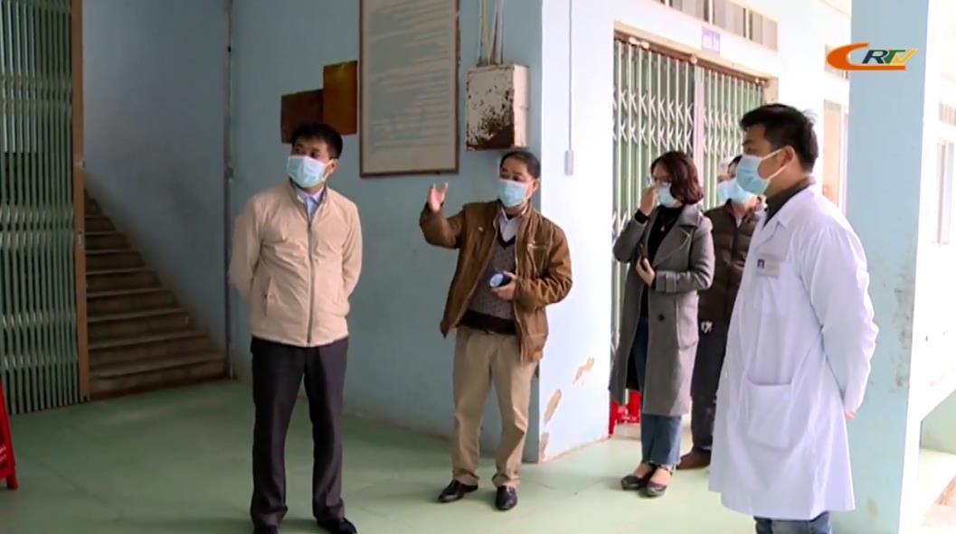 Sở Y tế kiểm tra khu cách ly y tế tập trung tại huyện Quảng Hòa