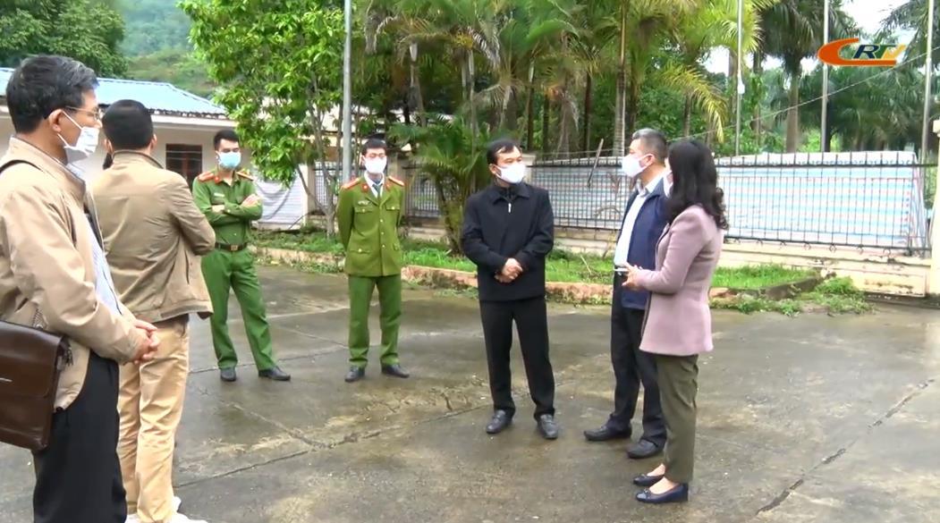 Phó Chủ tịch UBND tỉnh Nguyễn Trung Thảo kiểm tra công tác phòng, chống dịch COVID-19 tại huyện Hòa An