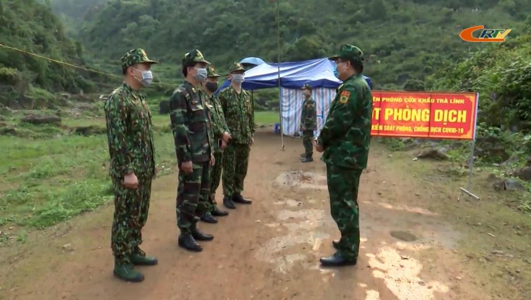 Bộ Chỉ huy BĐBP tỉnh: Kiểm tra các chốt phòng, chống dịch COVID -19 trên biên giới