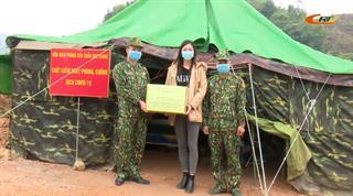 Hoa hậu thế giới Việt Nam 2019 Lương Thùy Linh thăm, tặng quà chiến sĩ BĐBP tại huyện Hà Quảng