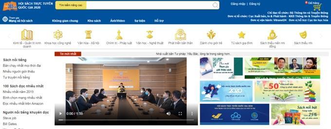 49 đơn vị tham gia Hội sách trực tuyến quốc gia