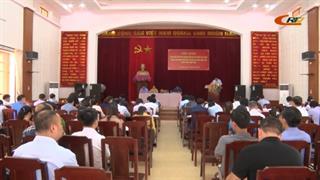 Hà Quảng: Hội nghị bàn giải pháp đẩy nhanh tiến độ thi công các công trình xây dựng cơ bản