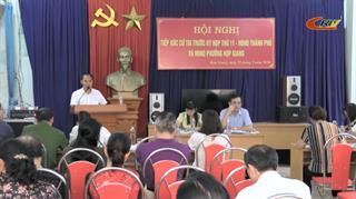 Đại biểu HĐND thành phố Cao Bằng tiếp xúc cử tri phường Hợp Giang