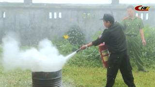 Tập huấn nghiệp vụ phòng cháy chữa cháy tại Trạm phát sóng phát thanh FM Quốc gia Phia Oắc