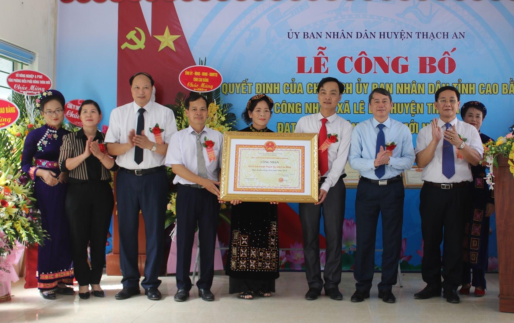 Thạch An: Công bố Quyết định công nhận xã Lê Lai đạt chuẩn nông thôn mới 