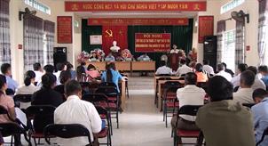 Đại biểu HĐND tỉnh tiếp xúc cử tri xã Minh Tâm (Nguyên Bình)