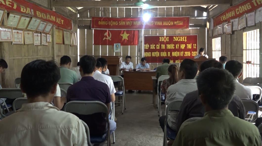 Bảo Lâm: Đại biểu HĐND huyện tiếp xúc cử tri tại 6/13 xã, thị trấn trước Kỳ họp thứ 12 HĐND huyện khóa IV