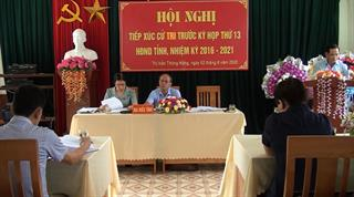 Đại biểu HĐND tỉnh tiếp xúc cử tri huyện Hà Quảng trước Kỳ họp thứ 13 HĐND tỉnh khóa XVI, nhiệm kỳ 2016 - 2021