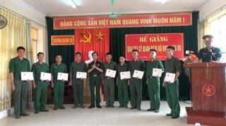 Bộ CHQS tỉnh: Bế giảng khóa đào tạo sĩ quan dự bị khóa 7