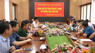 Thành ủy Cao Bằng: Công bố và trao các quyết định về công tác cán bộ