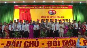 Đại hội đại biểu Đảng bộ huyện Hòa An lần thứ XX thành công tốt đẹp