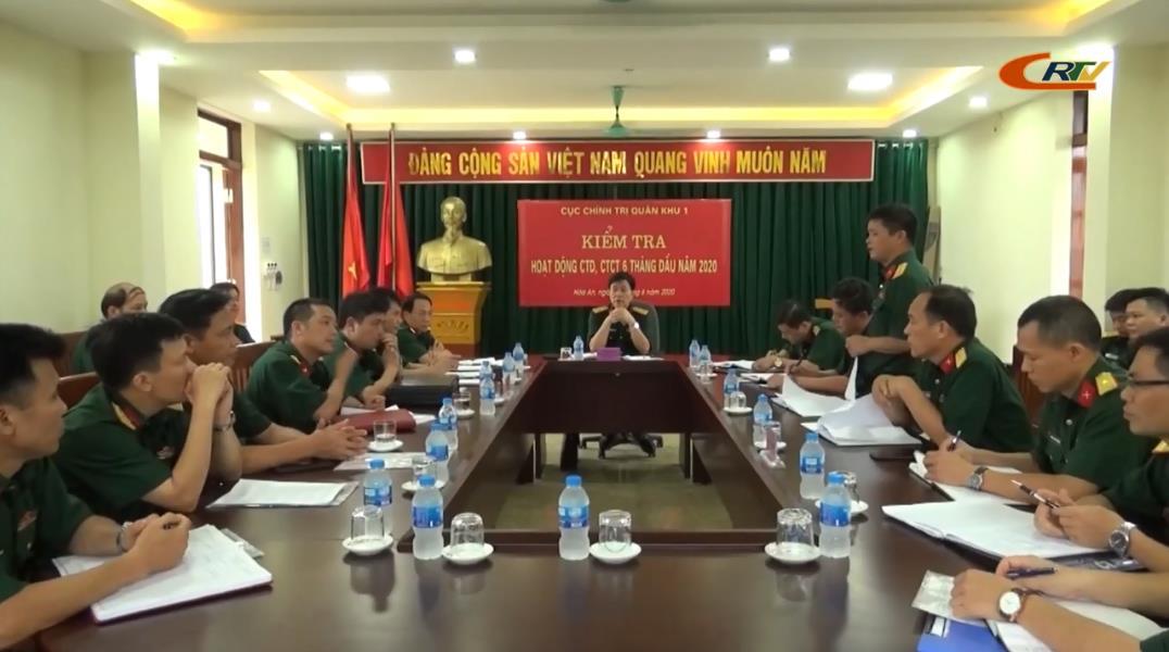 Cục Chính trị Quân khu 1 kiểm tra công tác đảng, công tác chính trị 6 tháng đầu năm 2020