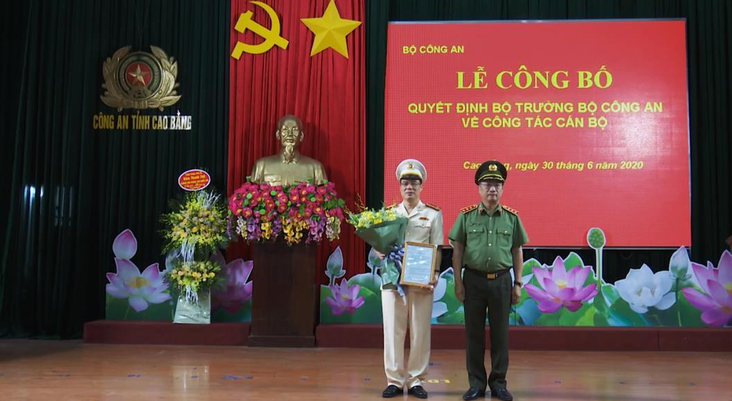 Đại tá Vũ Hồng Quang giữ chức vụ Giám đốc Công an tỉnh Cao Bằng
