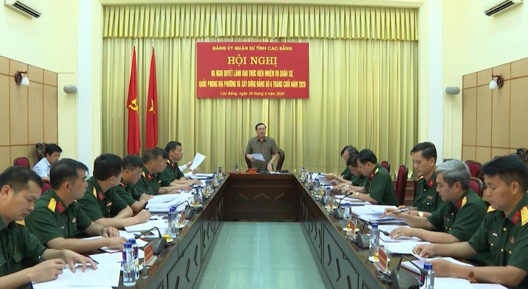 Đảng ủy Quân sự tỉnh ra nghị quyết lãnh đạo thực hiện nhiệm vụ quốc phòng quân sự địa phương 6 tháng cuối năm 2020