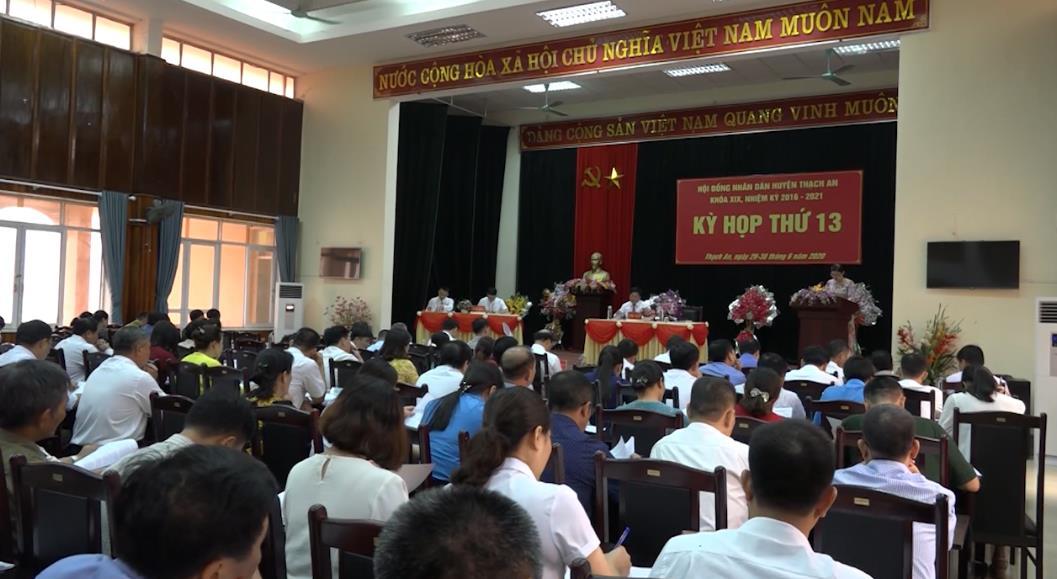 Kỳ họp thứ 13 HĐND huyện Thạch An khóa XIX, nhiệm kỳ 2016 - 2021