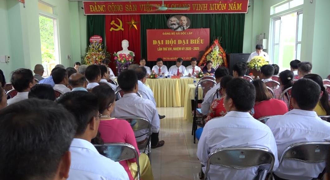 Quảng Hòa: Đại hội Đảng bộ xã Độc Lập lần thứ XVI, nhiệm kỳ 2020 - 2025