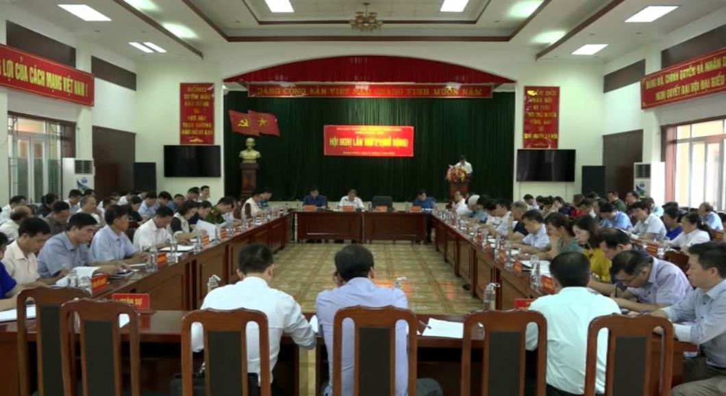 Trùng Khánh: Hội nghị Ban Chấp hành Đảng bộ huyện lần thứ 21 (mở rộng)