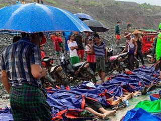 Thương vong tiếp tục tăng cao trong vụ lở đất ở Myanmar