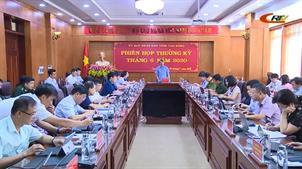 UBND tỉnh họp phiên thường kỳ tháng 6 năm 2020