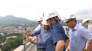 Chủ tịch UBND tỉnh Hoàng Xuân Ánh kiểm tra các công trình dự kiến gắn biển chào mừng Đại hội Đảng bộ tỉnh lần thứ XIX, nhiệm kỳ 2020 - 2025