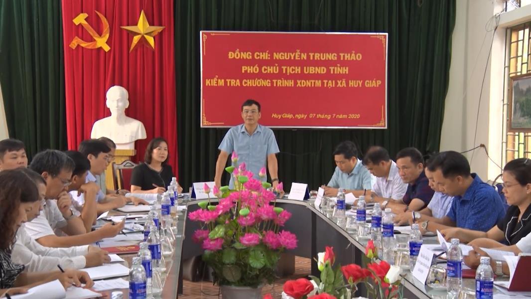 Phó Chủ tịch UBND tỉnh Nguyễn Trung Thảo: Bảo Lạc tháo gỡ khó khăn, giúp xã Huy Giáp đạt chuẩn nông thôn mới vào cuối năm 2020