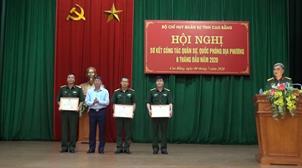 Bộ CHQS tỉnh: Sơ kết công tác quân sự quốc phòng địa phương 6 tháng đầu năm 2020