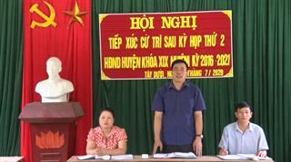 Đại biểu HĐND huyện Hà Quảng tiếp xúc cử tri sau kỳ họp thứ 2 HĐND huyện khóa XX
