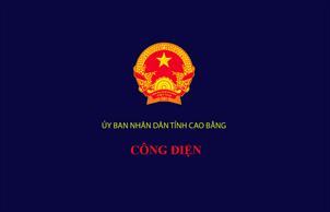 Công điện Ban Chỉ huy phòng, chống thiên tai và Tìm kiếm cứu nạn tỉnh Cao Bằng