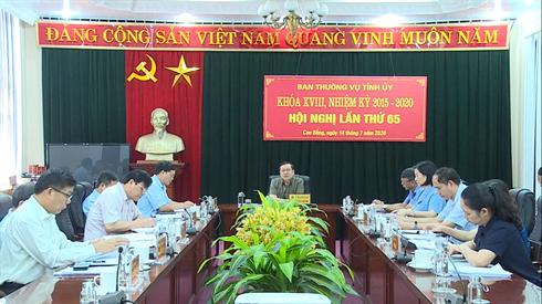 Hội nghị Ban Thường vụ Tỉnh ủy lần thứ 65