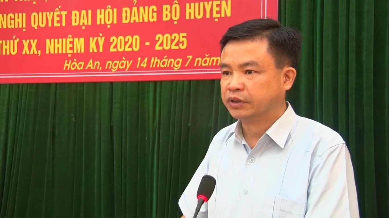 Hòa An: Học tập Nghị quyết Đại hội Đảng bộ huyện lần thứ XX và Chỉ thị, Nghị quyết của Đảng ban hành đợt II, năm 2020