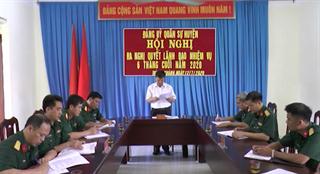 Đảng ủy Quân sự huyện Trùng Khánh ra Nghị quyết lãnh đạo nhiệm vụ 6 tháng cuối năm 2020