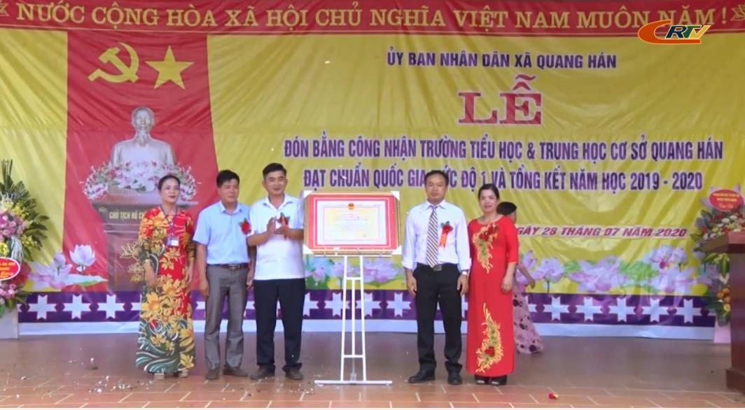 Trùng Khánh: Trường Tiểu học & THCS Quang Hán đạt chuẩn quốc gia mức độ 1