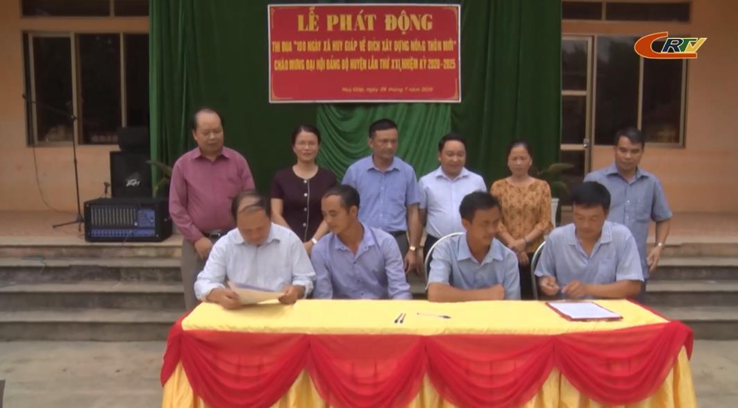 """Bảo Lạc: Phát động thi đua """"100 ngày xã Huy Giáp về đích xây dựng nông thôn mới"""""""
