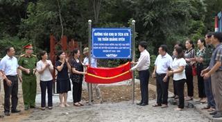 Quảng Hòa: Gắn biển 3 công trình chào mừng Đại hội Đảng bộ huyện lần thứ XVI, nhiệm kỳ 2020 - 2025