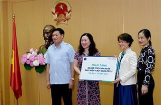 Bộ Y tế tiếp nhận ủng hộ 50.000 test kit xét nghiệm SARS-CoV-2