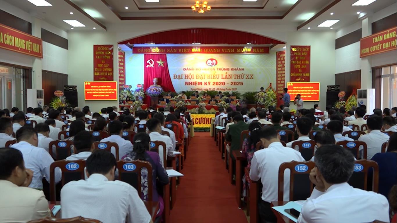 Khai mạc Đại hội Đảng bộ huyện Trùng Khánh lần thứ XX, nhiệm kỳ 2020 - 2025