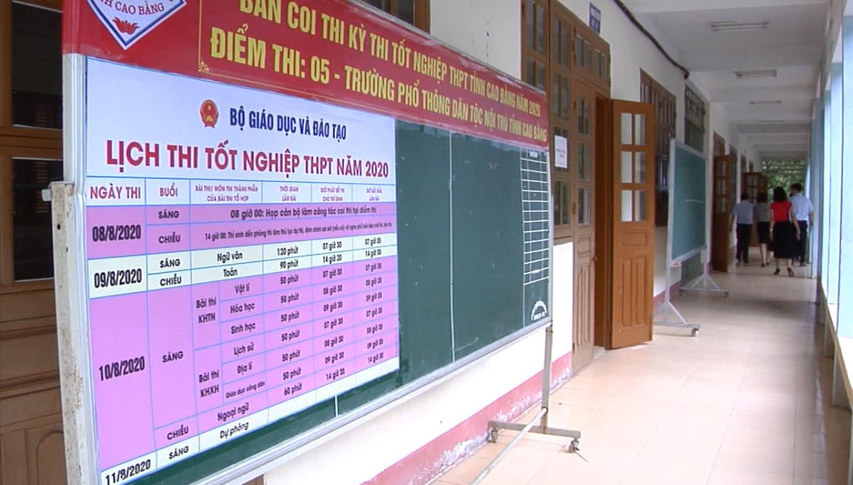 Thành phố kiểm tra công tác chuẩn bị thi tốt nghiệp THPT quốc gia năm 2020