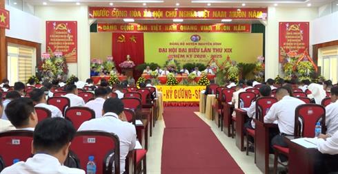 Khai mạc Đại hội đại biểu Đảng bộ huyện Nguyên Bình lần thứ XIX, nhiệm kỳ 2020 - 2025