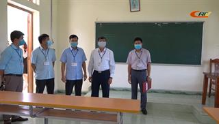 Chủ tịch UBND tỉnh Hoàng Xuân Ánh kiểm tra công tác tổ chức thi tốt nghiệp THPT năm 2020 tại thành phố Cao Bằng