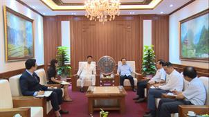 Bí thư Tỉnh ủy Lại Xuân Môn tiếp xã giao đoàn Công ty Hi-Tech Farm Hàn Quốc