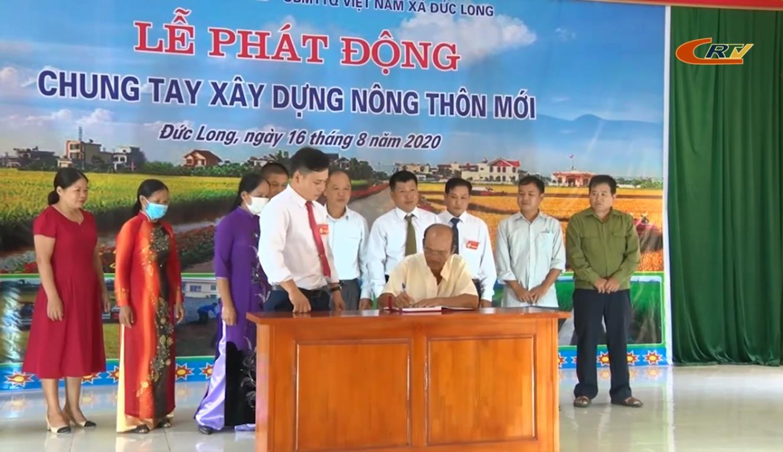 Hòa An: Xã Đức Long phát động chung tay xây dựng nông thôn mới