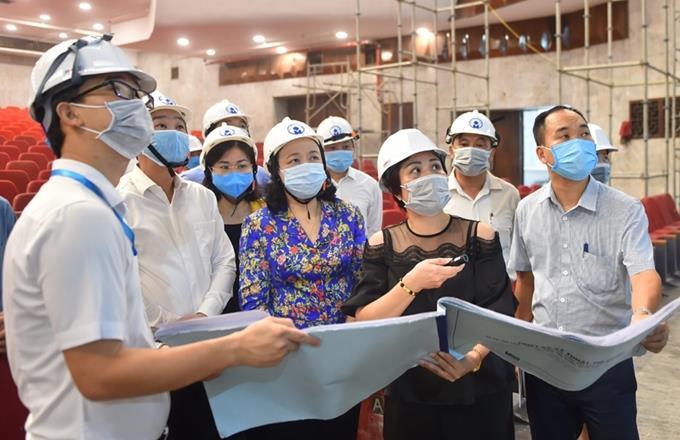 Đảm bảo chất lượng, tiến độ cải tạo, sửa chữa Cung Văn hóa Lao động Hữu nghị Việt – Xô