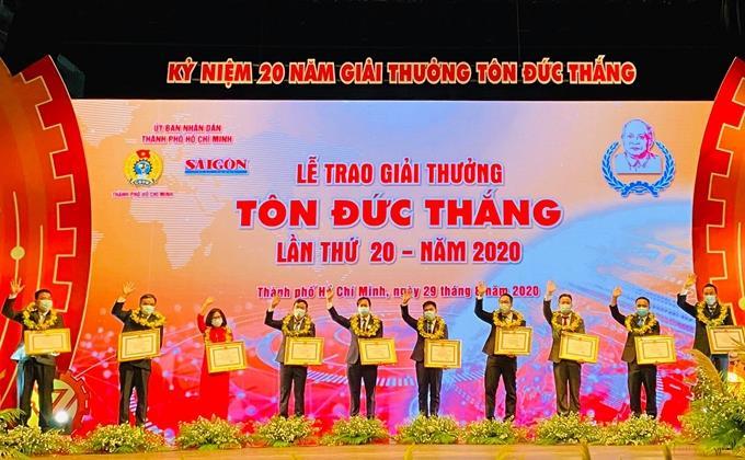 10 kỹ sư, công nhân tiêu biểu nhận Giải thưởng Tôn Đức Thắng