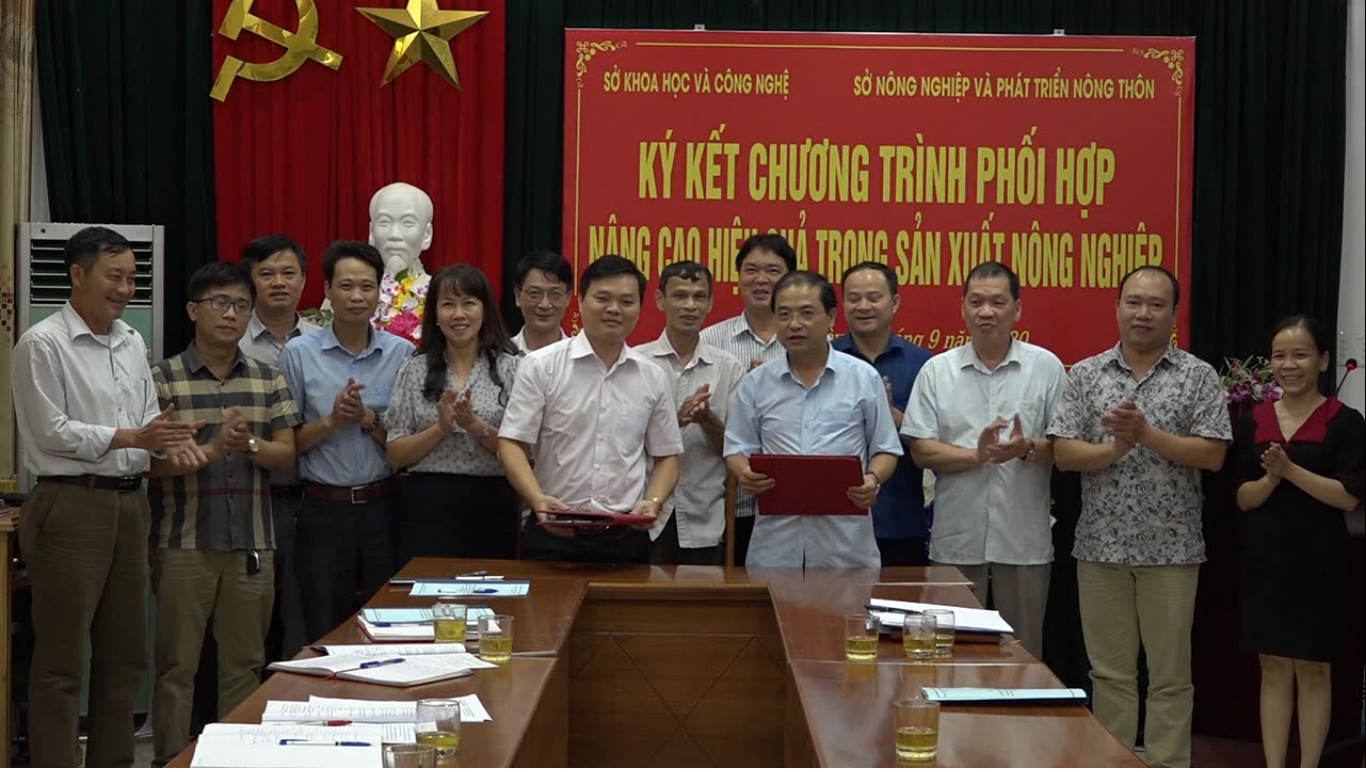 Sở NN&PTNT: Ký kết chương trình phối hợp nâng cao hiệu quả trong sản xuất nông nghiệp