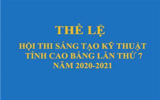 Thể lệ Hội thi Sáng tạo kỹ thuật tỉnh Cao Bằng lần thứ 7
