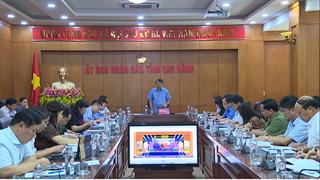 Họp Ban Tổ chức Lễ kỷ niệm 70 năm Chiến thắng Biên giới năm 1950 và Giải phóng Cao Bằng