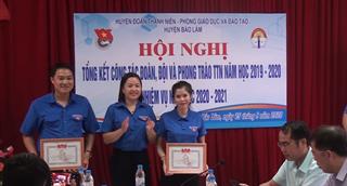 Bảo Lâm - Tổng kết công tác Đoàn, Đội và phong trào thanh thiếu nhi năm học 2019 – 2020