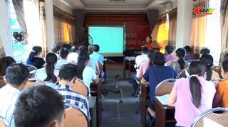 Tập huấn giám sát bệnh Covid-19 và bệnh truyền nhiễm cho cán bộ y tế thôn bản