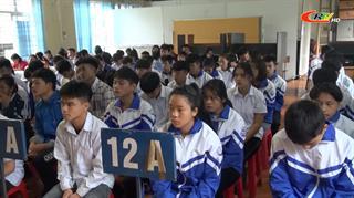 Hòa An: Tuyên truyền an toàn giao thông đường bộ và phòng chống ma túy, bạo lực học đường